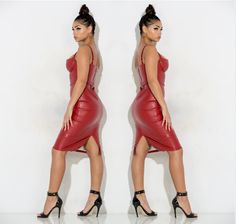 Saturday style goals! Look red hot in our Liquid Vain Dress! Shop this style now: www.bit.ly/1RNPauz