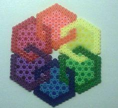 Hex perler bead by queenbee1977