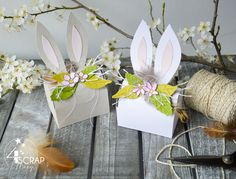 """Mary: #Tampons et #matrices de coupe #dies #4enSCRAP """"#Boite #cadeau"""" #scrapbooking Tampons, Happy Easter, Creations, Scrapbooking, Gift Wrapping, Table Decorations, Gifts, Beautiful Gifts, Customized Gifts"""