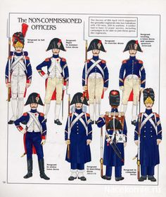 French; Imperial Guard, Grenadiers a Pied, NCOs