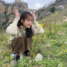 IU poses in front of the Puente Nuevo bridge, sharing her vacation photos from Spain Iu Twitter, My Girl, Cool Girl, K Pop, Hakuna Matata, Indie Kids, Kpop Fashion, Little Sisters, K Idols