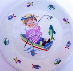 Figgjo Flint Girl Fishing Dish