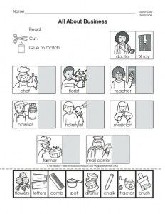 community helpers cut-paste worksheet (9) | Crafts and Worksheets for Preschool,Toddler and Kindergarten