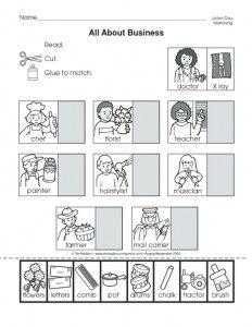 community helpers cut-paste worksheet (9)   Crafts and Worksheets for Preschool,Toddler and Kindergarten