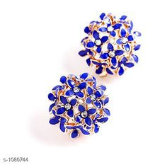 Earrings & Studs Princess Chunky Copper Gold Plated Earring  *Material* Copper  *Size* Free Size  *Description* It Has 1 Piece Of Earrings  *Work* Crystal Stone  *Sizes Available* Free Size *    Catalog Name: Princess Chunky Copper Gold Plated Earrings Vol 5 CatalogID_132506 Code: 571-1080744-