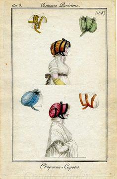 Kleidung um 1800: 1799/1800 Costume Parisien Robe de Couleur