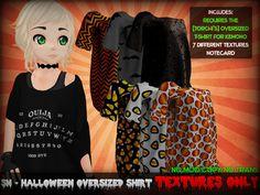SN - Halloween Oversized Kemono Shirts Textures ONLY