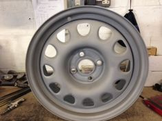 Check out these VW G60 steel wheels before and after we refurbished them!