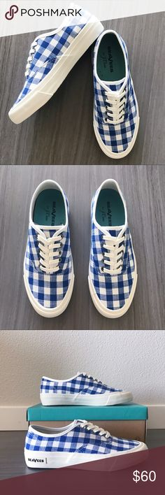 Gingham SeaVees x J. Crew Legend Sneakers Brand new in box SeaVees for J. Crew collab. These adorable gingham sneakers will go with every outfit: jeans, dresses, shorts, rompers... the list goes on! J. Crew Shoes Sneakers
