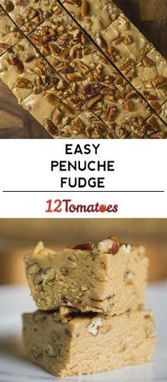 Penuche Fudge Don't worry, we'll explain how it's pronounced. Fudge Recipes, Candy Recipes, Chocolate Recipes, Sweet Recipes, Cookie Recipes, Dessert Recipes, Chocolate Fudge, Chocolate Tarts, Drink Recipes