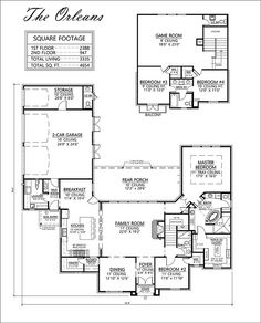 The Orleans House Plan   Madden Home Design    Living Area 3335, 2