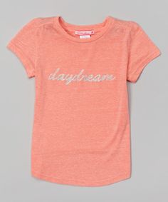 Look at this Orange 'Daydream' Tee - Girls on #zulily today!