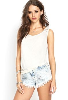 Linen-Blend Crochet Tank | FOREVER21 #SummerForever