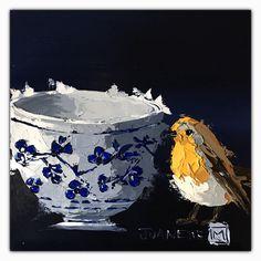 Delft collection 1 Oil impasto on board  By Juanette Menderoi