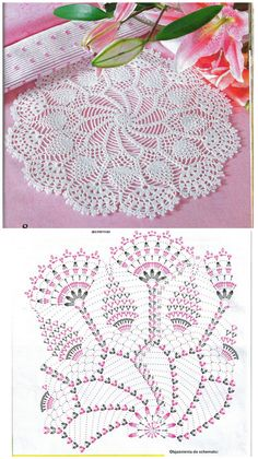 Crochet Tablecloth Pattern, Free Crochet Doily Patterns, Crochet Doily Diagram, Crochet Circles, Crochet Chart, Thread Crochet, Crochet Motif, Diy Crochet, Crochet Designs