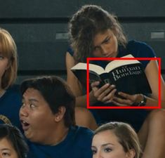 In Spider-Man: Homecoming, Michelle is seen reading Of Human Bondage, a book about an orphan boy who is sent to live with his aunt and uncle.