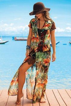 Vestido Longo De Chelles Acqua