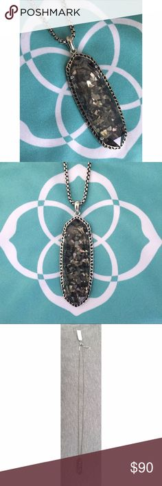 NWT Kendra Scott Layden Crushed Black Pearl This new classic shape sparkles with every step you take! Wear day or night for a neutral look that shines! Perfect for layering! Add to your collection or start a new one! Perfect condition, never worn! Kendra Scott Jewelry Necklaces