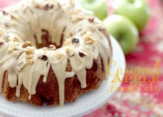 She's brought a Caramel Apple Bundt Cake which just looks to-die-for delicious!