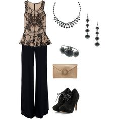 Comfortable,but dressy, created by threads324 on Polyvore