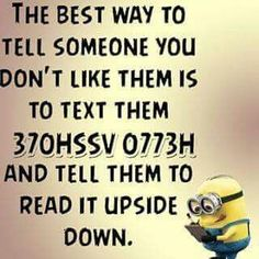 """These """"Top Minion Quotes On Life – Humor Memes & Images Twisted"""" are so funny and hilarious.So scroll down and keep reading these """"Top Minion Quotes On Life – Humor Memes & Images Twisted"""" for make your day more happy and more hilarious. Minion Humour, Funny Minion Memes, Minions Quotes, Stupid Funny Memes, Funny Relatable Memes, Funny Texts, Farts Funny, Hilarious Jokes, Epic Texts"""