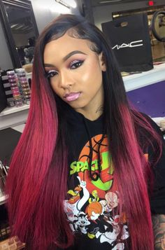 Huarisi Ombre Brazilian Straight Hair Virgin Human Hair Weaves 100 Real Hair 3 Bundles 18 20 22 Inches Double Weft for Black Women Weave Hairstyles, Straight Hairstyles, Hairstyles Haircuts, Lace Front Wigs, Lace Wigs, Hair Colorful, 100 Human Hair Wigs, Natural Hair Styles, Long Hair Styles