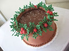 Christmas Loaf Cake Decoration : 1000+ images about CAKES: Holiday cakes on Pinterest ...