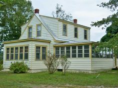 MLS 114156- Hartfield area. Beautifully restored farmhouse w/2 bedrooms, heart pine floors, updated kitchen, basement/cellar 2 .75 acres #middlesexcountyva Now Reduced! $159,500