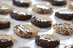 Classic peanut butter cookies get a stylish upgrade with chocolate. You& going to love these Chocolate-Dipped Peanut Butter Cookies. Classic Peanut Butter Cookies, Peanut Butter Cookie Recipe, Peanut Butter Recipes, Cookie Desserts, Cookie Recipes, Dessert Recipes, Fun Recipes, Sweet Recipes, Baking Recipes