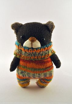 Handmade Sock Bear by starsbythedoorstitch on Etsy, £15.00