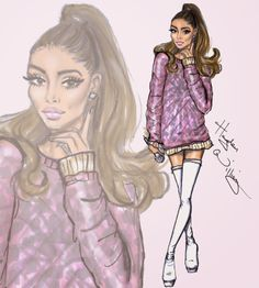 Hayden Williams Fashion Illustrations: Ariana Grande by Hayden Williams