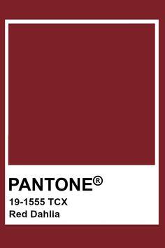 Pantone Red Dahlia