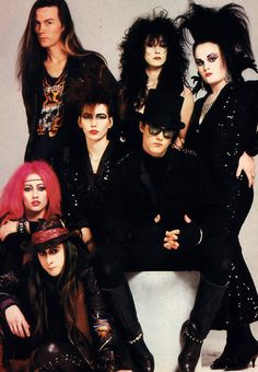"""The 1987 Goths are a brazen bunch who openly admit to liking Free, Bad Company, Alice Cooper and Jimi Hendrix. The modern Goth bands are primarily The Cult and The Mission (whose lead singer Wayne. Gothic, Victorian Goth, Dark Fashion, 80s Fashion, Alternative Fashion Indie, 80s Goth, Modern Goth, Goth Bands, Romantic Goth"