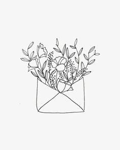 + Wolf Studio // Flower envelopeDot + Wolf Studio // Flower envelope Bouquet flower sketch White Flowers Simple Glass Vase Bottle Patterned Illustration Wherever life plants you, bloom with grace Bullet Journal Art, Bullet Journal Inspiration, Sketchbook Inspiration, Bordado Popular, Minimalist Drawing, Floral Drawing, Black Pen Drawing, Art Sketchbook, Botanical Illustration