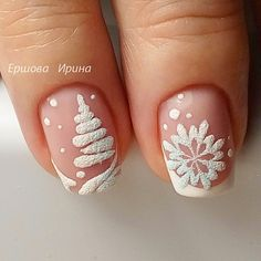 Christmas Nail Art Ideas + 149 Simple Designs for Holiday art Related posts: 51 Festive Christmas Nail Art Ideas: Holiday Nail Designs … Nail Art Noel, Xmas Nail Art, Xmas Nails, New Year's Nails, Winter Nail Art, Holiday Nails, Winter Nails, Fun Nails, Simple Christmas Nails