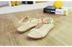 5063f3955 HEVXM Women Sandals 2017 Summer New Candy Color Peep Toe Beach ...