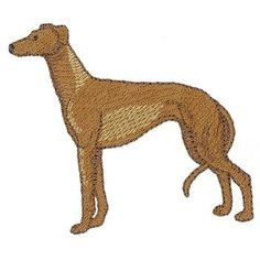 Animals Embroidery Design: Greyhound from Dakota Collectibles
