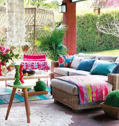 Colorful Patio colorful home outdoors bright decorate patio furniture cheery