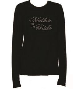Rhinestone Mother Of The Bride Lightweight LongSleeve-Round Neck T-Shirt Nr21