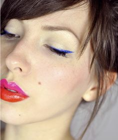 Color-block #makeup. Interesting! #colorblock #trend