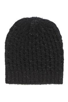 Tall Metallic Knit Beanie Hat at Long Tall Sally. Tall Clothing for tall women at PrettyLong.com