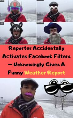 Reporter Accidentally Activates Facebook Filters – Unknowingly Gives A Funny Weather Report #omg #omgpage #love #explore #explorepage #lol #funny #edit  #edits #follow #meme #like #cute #wow #memes #instagram  #amazing #lmao #viral #beautiful #instagood #omgpageedit #videostar #l #tiktok #haha #music #fun #omgedit #bhfyp Facebook Filters, Funny Weather, Feb 13, Weather Report, Just For Fun, Amazing Nature, Haha, Humor, Comics