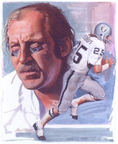 Fred Biletnikoff, Oakland Raiders by Jim Auckland, 1990
