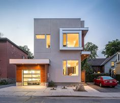 """Linebox Studio presents """"Fold Place"""", a spacious-yet-compact #home situated in #Ottawa's vibrant #Glebe neighborhood that extends across the southern #downtown edge of the #city. Marvel at more #contemporary #architecture on #homify!  #design #moderndesign #modernarchitecture #modernliving #dreamhouse #housegoals #garage #Canada #windows #facade #curbappeal #concrete"""