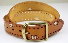 Cinturón artesanal en cuero y bordado   Marisol Alvarez   Flickr