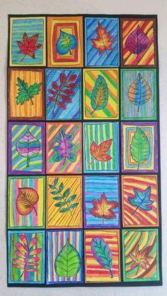 Elementary Art Lesson Plans, 3rd Grade Art Lesson, 4th Grade Art, Fall Art Projects, Craft Projects For Kids, Fall Crafts For Kids, Art For Kids, Montessori Art, Art Terms