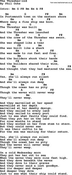 Phil Ochs Song Thats What I Want To Hear By Phil Ochs Lyrics And