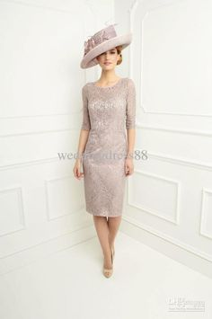 Hot Sale Jacket Knee-length Mother Dresses Wedding Sexy Sheath Mother of the Bride Dresses S0458 Online with $148.15/Piece on Weddingdress88's Store | DHgate.com