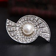 White Double Half-Circle Full-Diamond Brooche – AUD $ 2.47