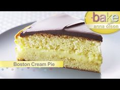 Boston Cream Pie - Bake with Anna Olson - YouTube